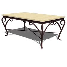 Wrought Iron Genesis Coffee Table By Alexandra Die.