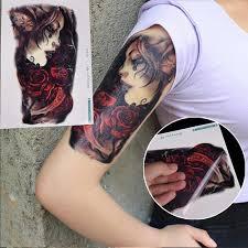 1ks Krása Dívka Tattoo Rameno Rameno Tattoo Body Art Dočasné Tetování Vodotěsnost Efekt Cc At Airyclub