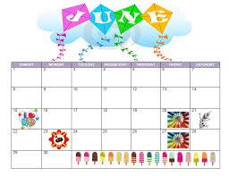 Free Printable Calendar June 2014 Summer Fun All For
