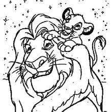 Small Picture Simba with zazu coloring pages Hellokidscom