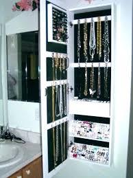 jewelry storage wall mount rack image detail for mounted mirror organizer hanger diy jewe