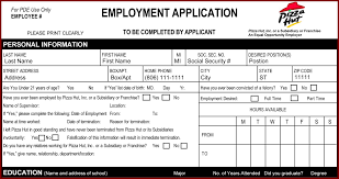 14 job application sample pdf sendletters info pizza hut job application printable job employment forms