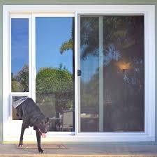 dog door in glass door with dog door large dog door patio pet door screen door