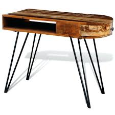 deluxe wooden home office. Desk Reclaimed Solid Wood With Iron Pin Legs1 8 Wooden Desks For Home Deluxe Office R