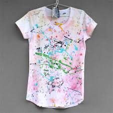 cotton t shirt hand painted for woman or girl