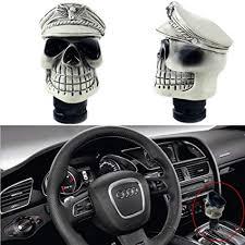 Amazon.com: DEWHEL Skull Shifter Knob Car Truck SUV Manual Gear ...