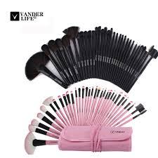 vander life 32pcs makeup brush sets professional cosmetics brushes set kit pouch bag case woman make up tools pincel maquiagem