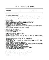 Cna Resume Examples Amazing Entry Level Cna Resume Examples Resume Tutorial Pro