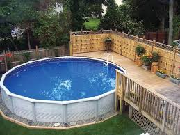 above ground pool with deck and hot tub. Above Ground Pool Deck With Screens And Planters Above Ground Pool With Deck And Hot Tub