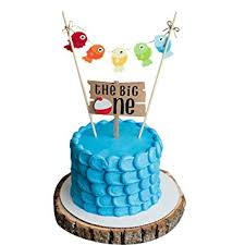 The Big One Cake Topper Fishing First Birthday Cake Topper Gone