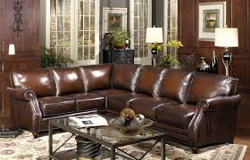 l shape brown leather sectional sofa with floor