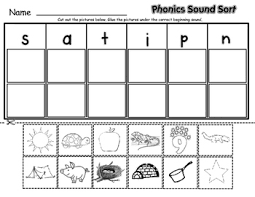 These free worksheets help your kids learn to define sounds from letters to make words. Phonics Sound Sort By Lisa Sadler Teachers Pay Teachers