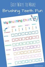 Free Printable Tooth Brushing Chart Free Printable Tooth Brushing Chart Dental Kids Teeth