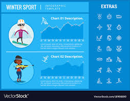 Sports Infographic Template Winter Sport Infographic Template Elements Icons Vector Image