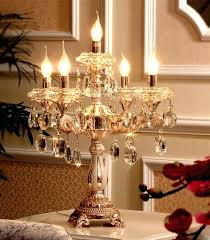 candlestick table lamps modern gold led candle holders reading light large wedding led table