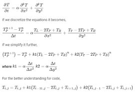 solve the 2d heat conduction equation