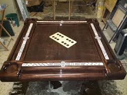 Wooden Game Table Plans Unique Large All Wooden Domino Inlay Domino Table by Domino Tables 24