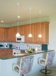 lovely triple mini kitchen pendant lighting design