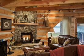 image of log cabin decorating