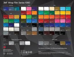 Vinyl Wrap Color Chart 3m Vinyl Colour Chart