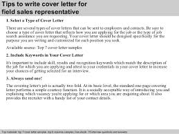 sales rep cover letters field sales representative cover letter