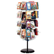 Book Display Stand Staples R WIREworks 100 Pocket Revolving Wire Book Holder Display ABC 46
