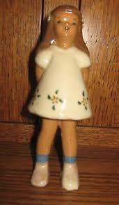"VINTAGE LITTLE GIRL 6"" Pottery Figurine With Evelyn Carlson Lund Label -  $19.99 