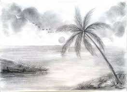 pencil sketchesdrawing beautiful natural scenery best simple