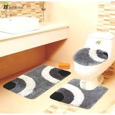 5 piece bathroom rug sets 3 pieces set thick superfine fiber no slip bath mat