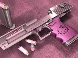 Hellokitty Funny Pink Desert Eagle Gun ...