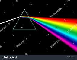 Light Through A Prism White Light Beam Shines Through Prism Stock Illustration