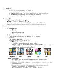 teacher lesson plan template sample high school lesson plan template