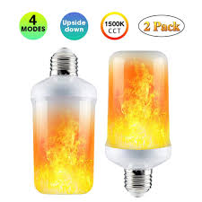 Flickering Fire Light Bulb Led Flame Effect Fire Light Bulbs 3 Modes E26 Led Flame Effect Fire Light Bulbs Flickering Fire Atmosphere Decorative Lamps For Hotel Bars Home