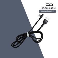 Cáp sạc nhanh COLLEN cho iphone chuyên dụng gaming đầu ngang có đèn led  ,bọc dây dù chống đứt, chống gãy gập giá cạnh tranh