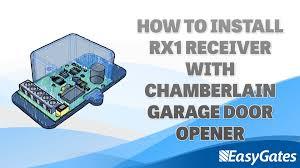 how to install rx1 receiver with chamberlain garage door opener