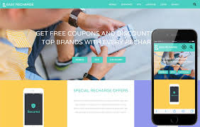 Easy Website Templates Magnificent Easy Recharge A Online Recharge Bootstrap Responsive Web Template