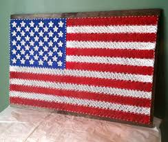 american flag word art american flag string art sign united states flag made to order