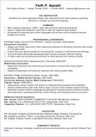 Resume For English Lecturer Resume Layout Com