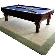 pool table rug 8 foot pool table and custom rug pool table rug size