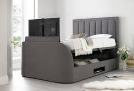 tv bed with storage. Fine Bed Happy Beds Ventura Fabric Ottoman Storage Bed  Grey 5ft King On Tv With 9