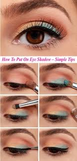 how to put on eye shadow