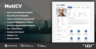 Moticv V1 0 1 Vcard And Resume Builder Wordpress Theme