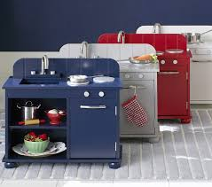 play kitchens on at huge s at pottery barn kids for the holidays