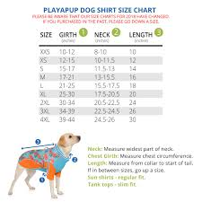 Playapup Dog Sun Protective Lightweight Shirts For Female Dogs Upf 50