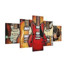 modern grunge guitar canvas wall art on guitar canvas wall art red with modern grunge guitar canvas wall art university of rock