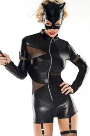 Black Sexy Deluxe Catwoman Halloween Costume Adult