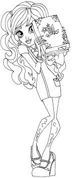 Small Picture Monster High Coloring Page for Twyla in Scaremester Monster