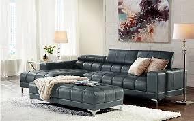 Sofia Vergara Bal Harbour Black Leather Sofa