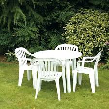 plastic garden table white patio table round plastic garden table and chairs