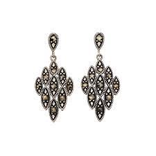 82 00 sterling silver marcasite erfly fastening earrings